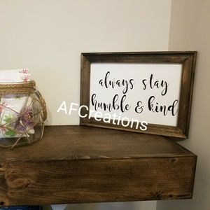 Customized canvas signs